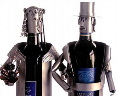 Groom Bride Wine Holder