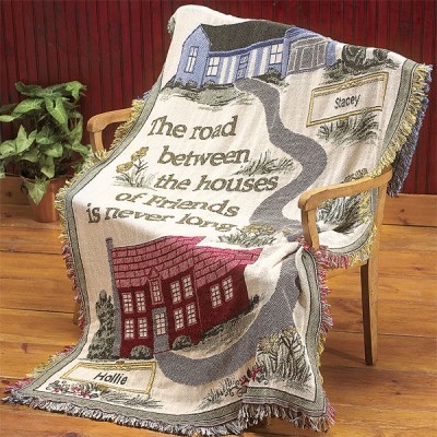 Personalized Friends Throw Tapestry