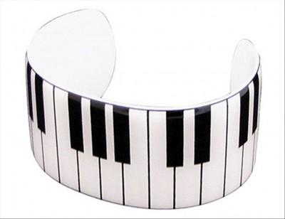 Piano Open Bracelet