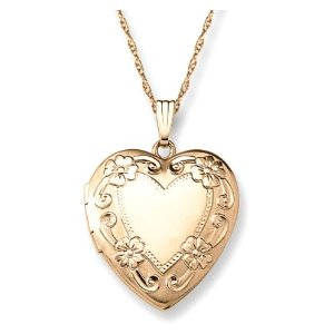 Gold Filled Engraved Heart Locket