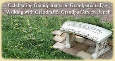 Grandma & Grandpa Garden Bench