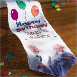 Personalized Birthday Tie