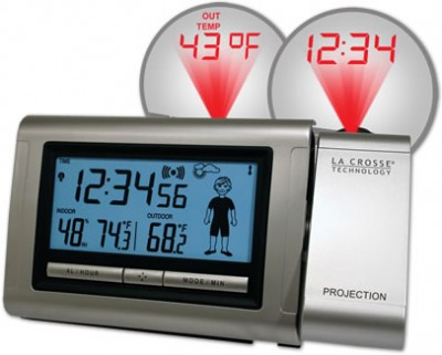 Projection Alarm Clock with Weather-Man Icon
